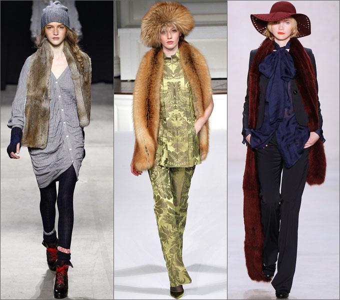 Модная верхняя одежда сезона осень-зима 2011-2012 Sharfy