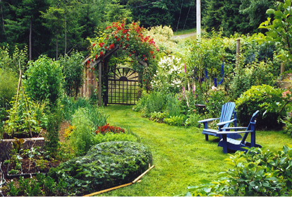 Bonne Mardi Beautiful-Green-Summer-Garden