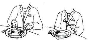 إتيكيت استخدام السكين والشوكة HowToUseKnife1