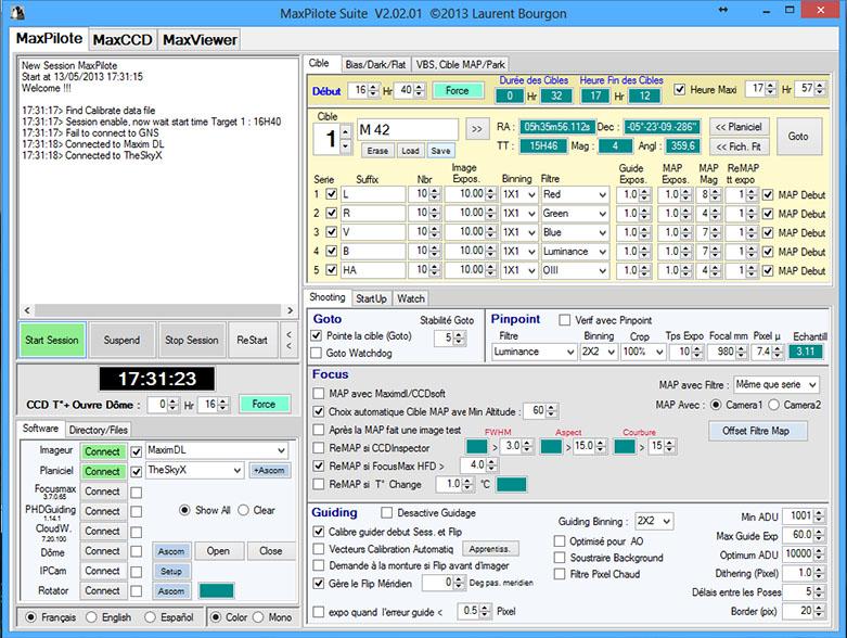 MaxPilote : Soft pour gérer vos soirées avec Maxim DL/FocusMax/Pinpoint/PHDGuiding - Page 3 Maxpilote8