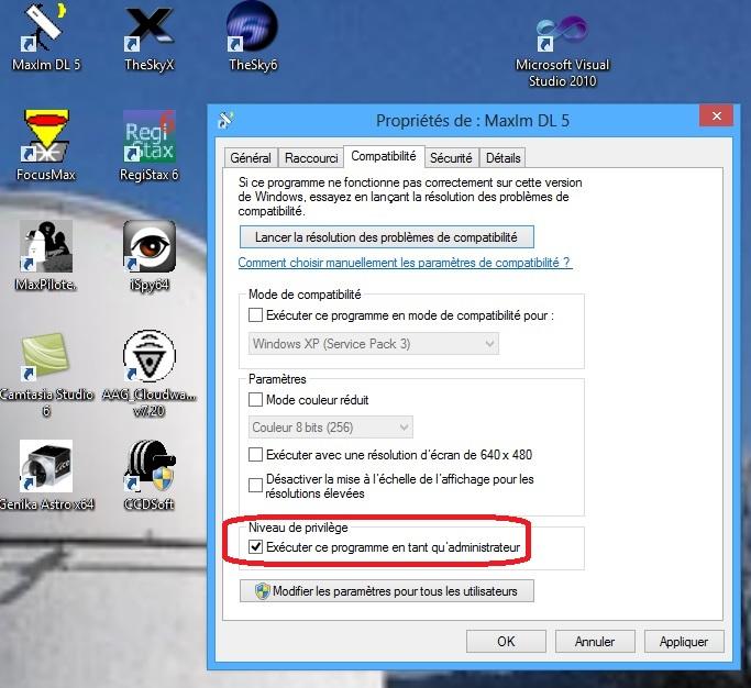Attention Uptdate Windows (XP / 7 / 8 ), pb avec focusmax Windows