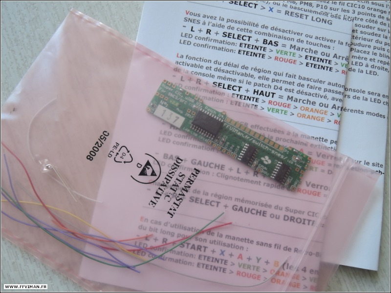 [VDS] Kit PCB switchless : Super CIC, uIGR V2.3, Patch D4. SNES/SFC Kit-pcb-switchless-v2