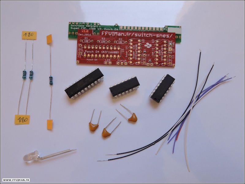 [VDS] Kit PCB switchless : Super CIC, uIGR V2.3, Patch D4. SNES/SFC Kit-pcb-switchless