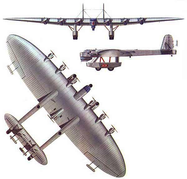 L'aéronef le plus étrange selon vous 3-View-Kalinin-K-7-Color
