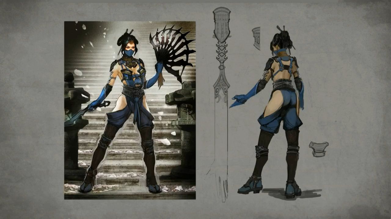 """NEW PRODUCT: WorldBox New Products: 1/6 """"King of Fighters KOF"""" - Caojing Jingyu Collection of movable dolls Kitana-mkx-concept-art"""