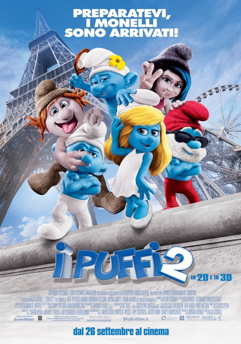 Cinema e scene dei film I-puffi-2_cover