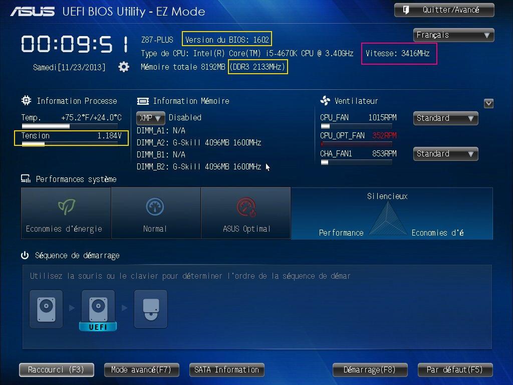 [DOSSIER] Screens BIOS Asus Z87-PLUS C2 01a