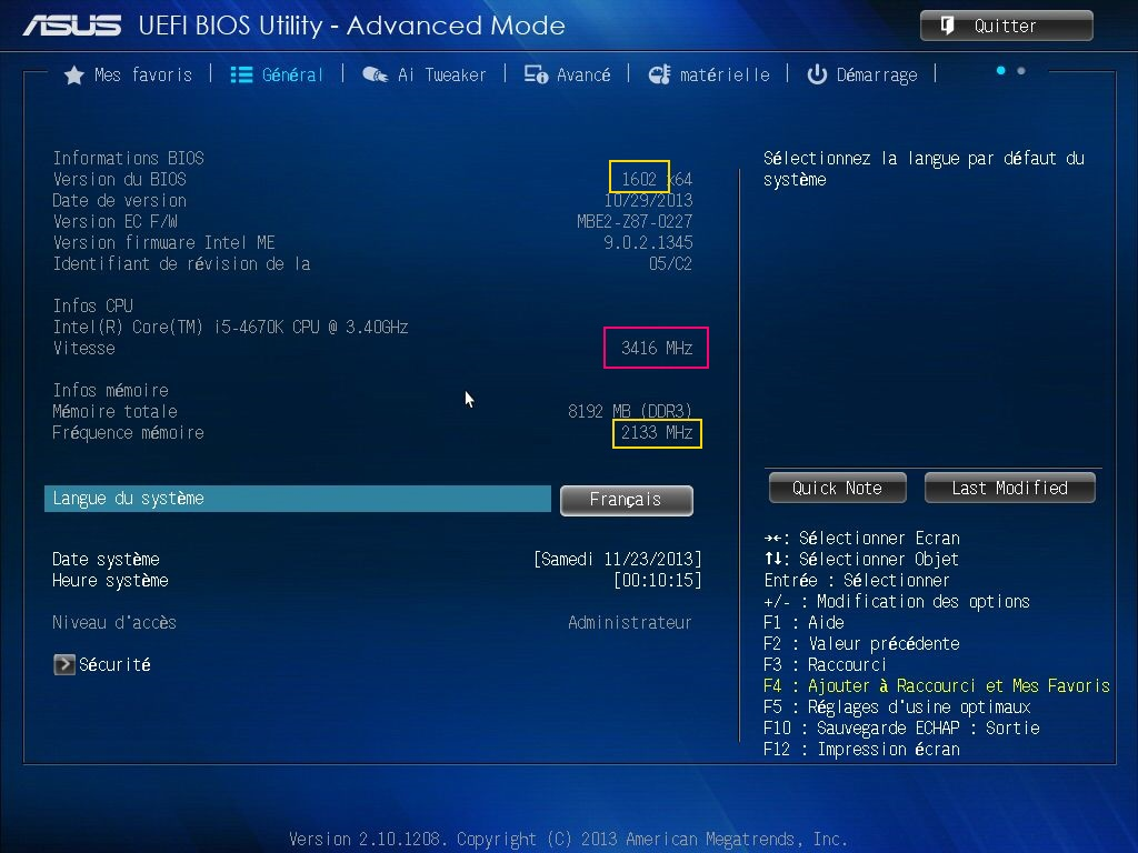 [DOSSIER] Screens BIOS Asus Z87-PLUS C2 02a