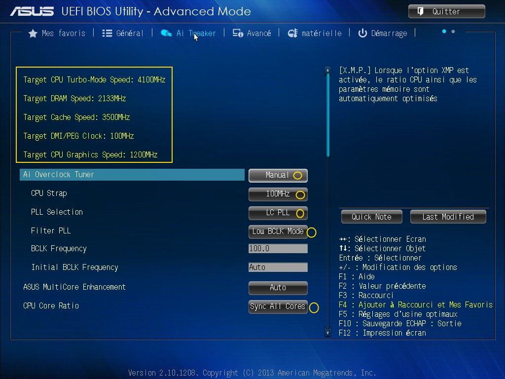 [DOSSIER] Screens BIOS Asus Z87-PLUS C2 03a