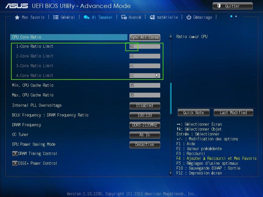 [DOSSIER] Overclocking d'un Intel core i5 4670K - 3° partie Bios-coef-41