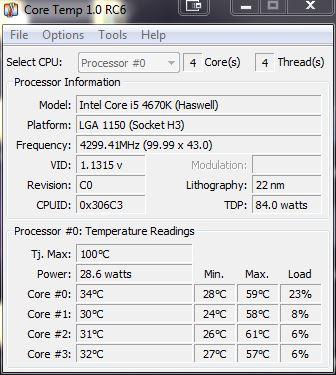 [DOSSIER] Overclocking d'un Intel core i5 4670K - 3° partie Coretemp-occt-4-3ghz