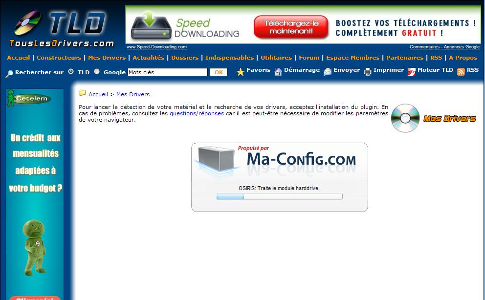 Trouver les drivers de sa configuration Detection-tld