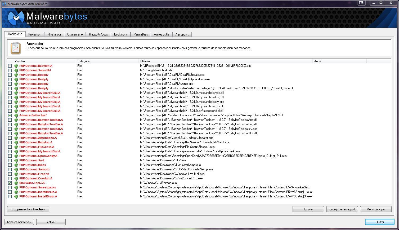 [DOSSIER]Protocole de nettoyage des indésirables (Spywares, Malwares, publicités intempestives...) Malware