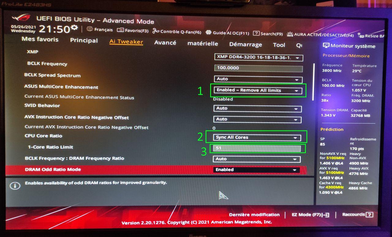"[DOSSIER] Overclocking Intel Core i7 10700K ""Overclocking manuel sur les 8 cœurs""  Bios-51ghz"