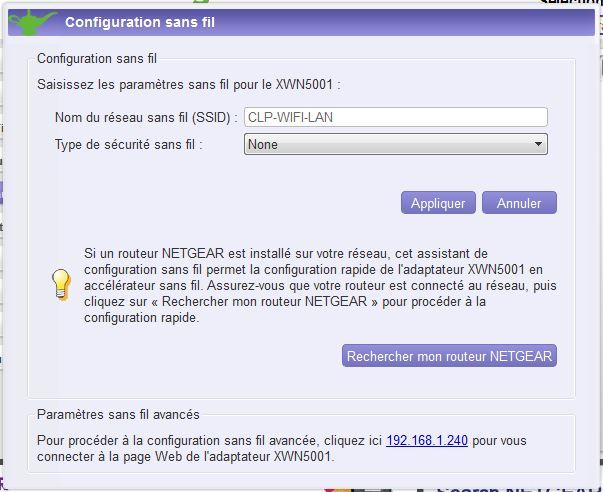 Interfaces kit CPL et répéteur WIFI Genie-4
