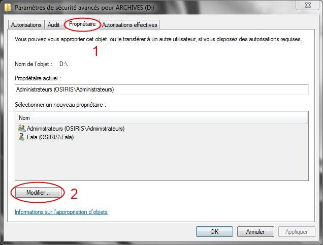 Partager dossiers ou partitions avec Windows 7 Droits04