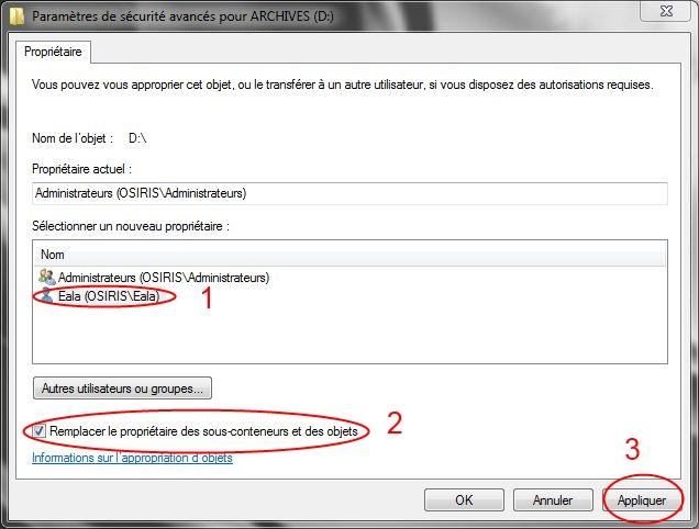 Partager dossiers ou partitions avec Windows 7 Droits05
