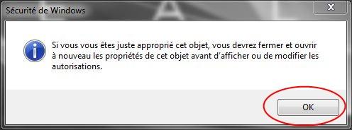 Partager dossiers ou partitions avec Windows 7 Droits06