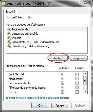 Partager dossiers ou partitions avec Windows 7 Droits08