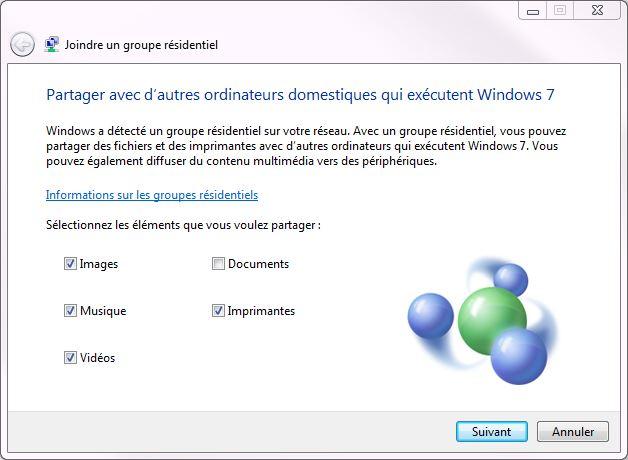 Partager dossiers ou partitions avec Windows 7 Groupe-residentiel