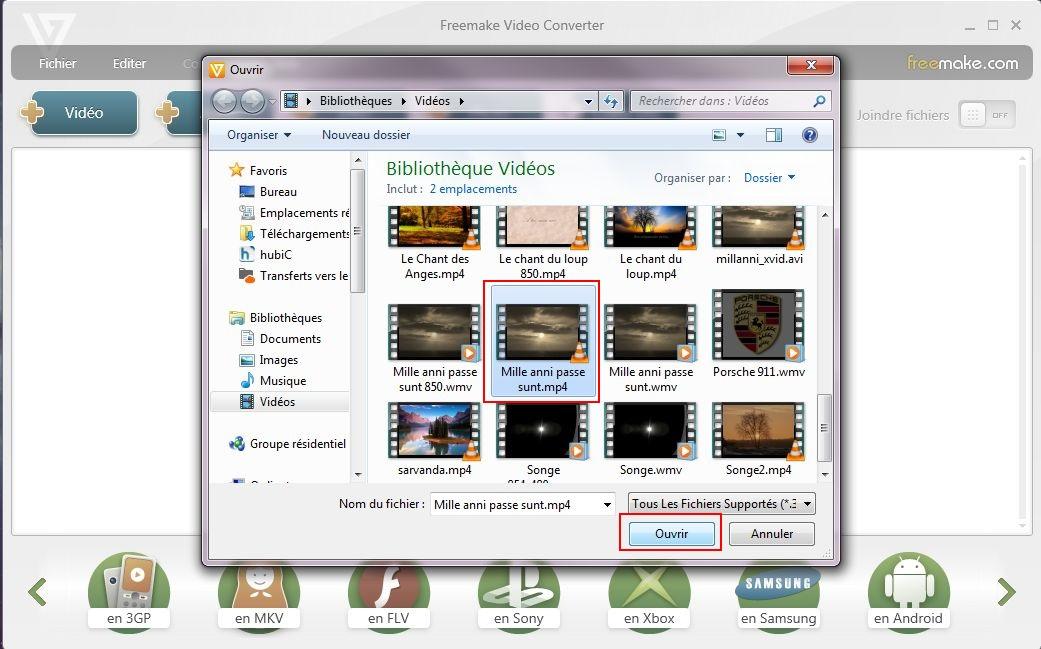 Conversion d'un fichier vidéo Freemake-03