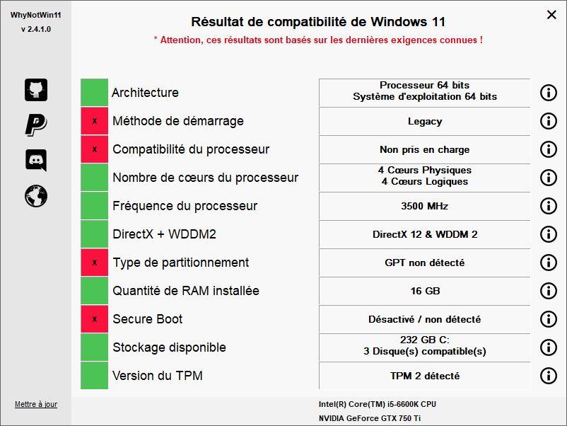 [DOSSIER] Windows 11 : installation en pratique N°2 Maj-i5-6600k