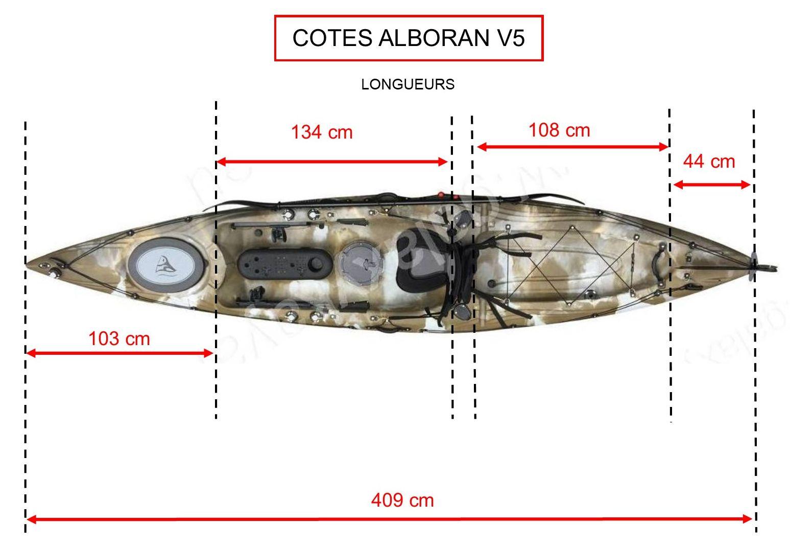 Alboran (GALAXY KAYAK) Cotes-longueurs