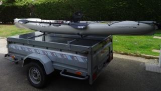 1 - Le transport du kayak (longues distances) Kayak-remorque-bagage