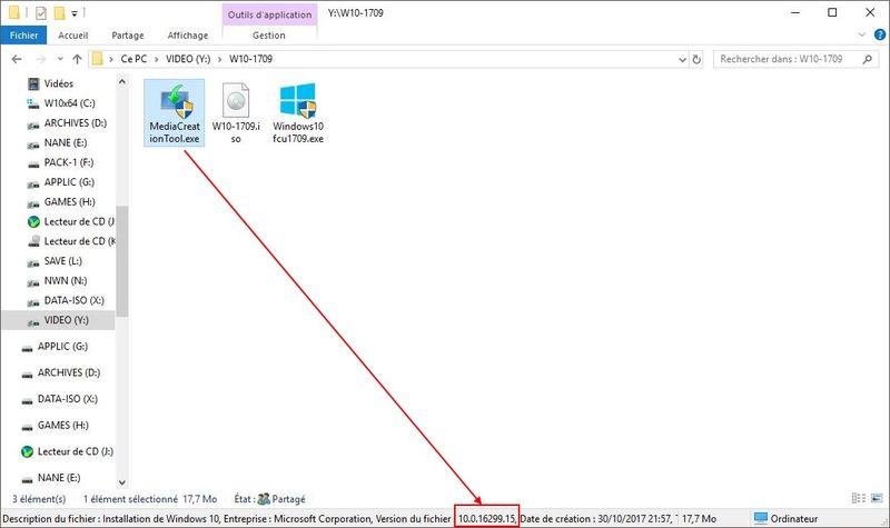 WINDOWS 10 1709 (installer, télécharger l'ISO et créer une clé ou DVD) W10-mediacreation