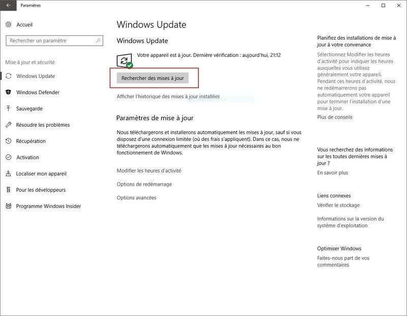 WINDOWS 10 1709 (installer, télécharger l'ISO et créer une clé ou DVD) W10-update