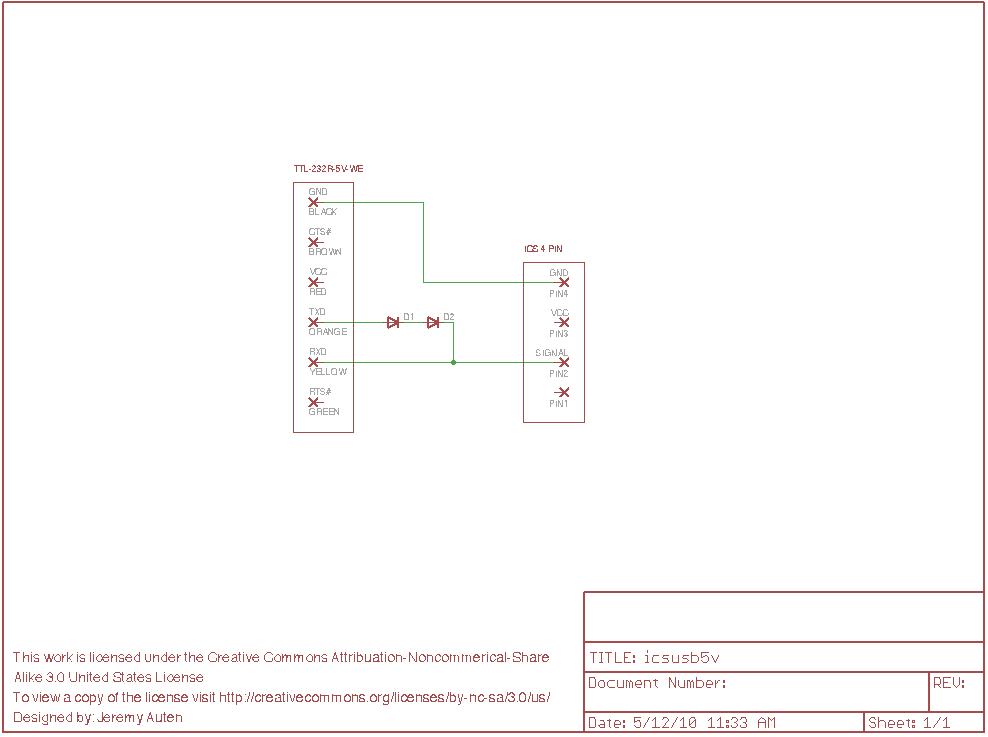 Câble ICS Perso pour MR02ASF MR03 Mr03VE Icsusb5vschematic