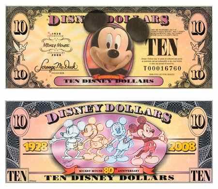 Imagens da Disney DisneyDollars