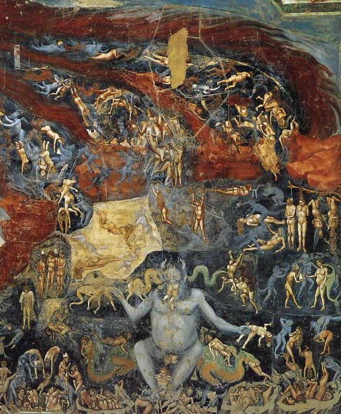 Clamorosa scoperta nell' affresco di Giotto Inferno_Giotto