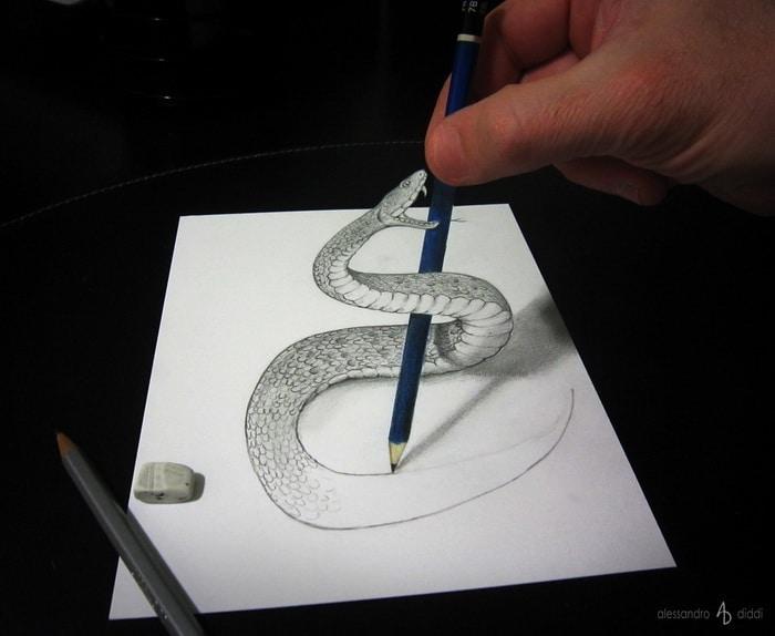 Anamorfismo: i capolavori di Alessandro Diddi Snake_v2.1500x1000