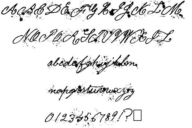 Vos polices d'écriture préférées - Page 3 War_letters_specimen