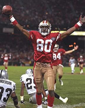 Lista de los jugadores más desequilibrantes de la NFL de los 80's para acá. J-Rice