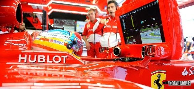 Gran Premio de España Alonso-box-montmelo