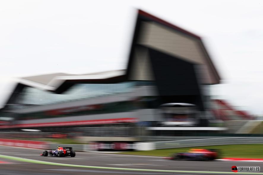 Gran Premio de Inglaterra Vettel-Webber-Silverstone-sabado