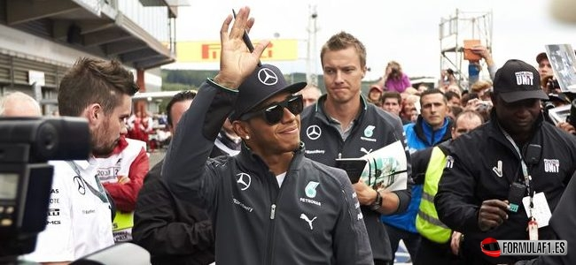 Gran Premio de Bélgica 2014 Hamilton-fp2-spa