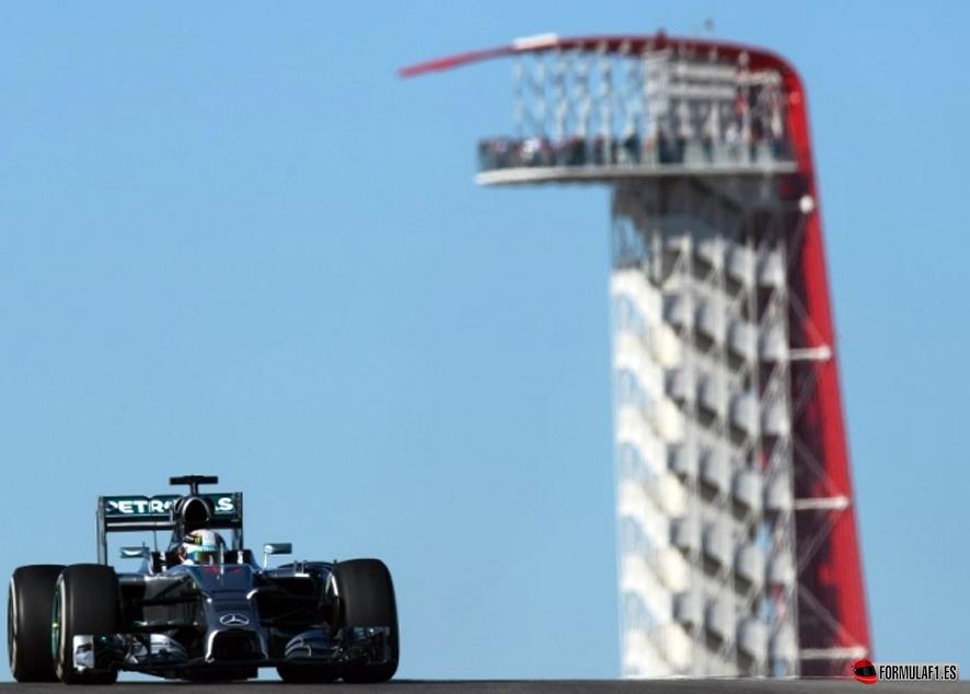 Gran Premio de EE.UU. 2014 Hamilton-Austin-FP1