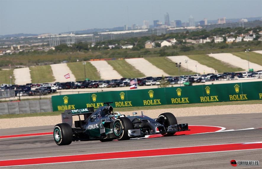 Gran Premio de EE.UU. 2014 Hamilton-Austin-FP2