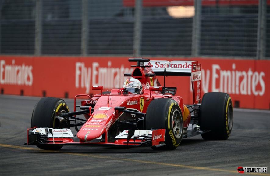 Gran Premio de Singapur 2015 Vettel-fp3