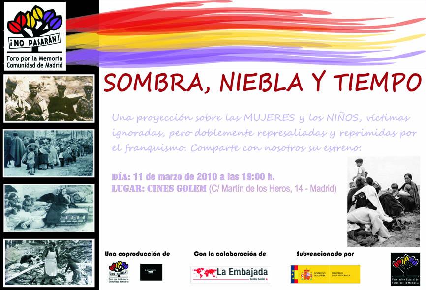 """Documental memoria historica """"Sombra, Niebla y Tiempo"""". Invitacion-imprenta_peq1"""