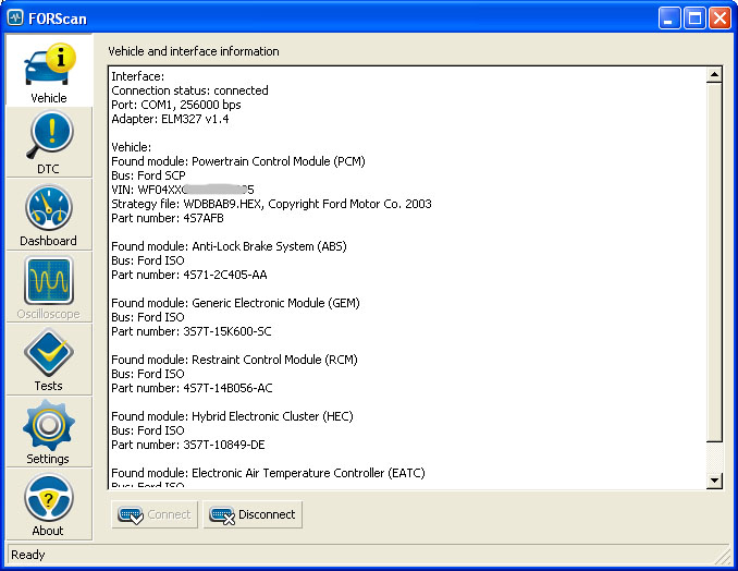 FORScan 1.1.1 (beta) Screen_vehicle