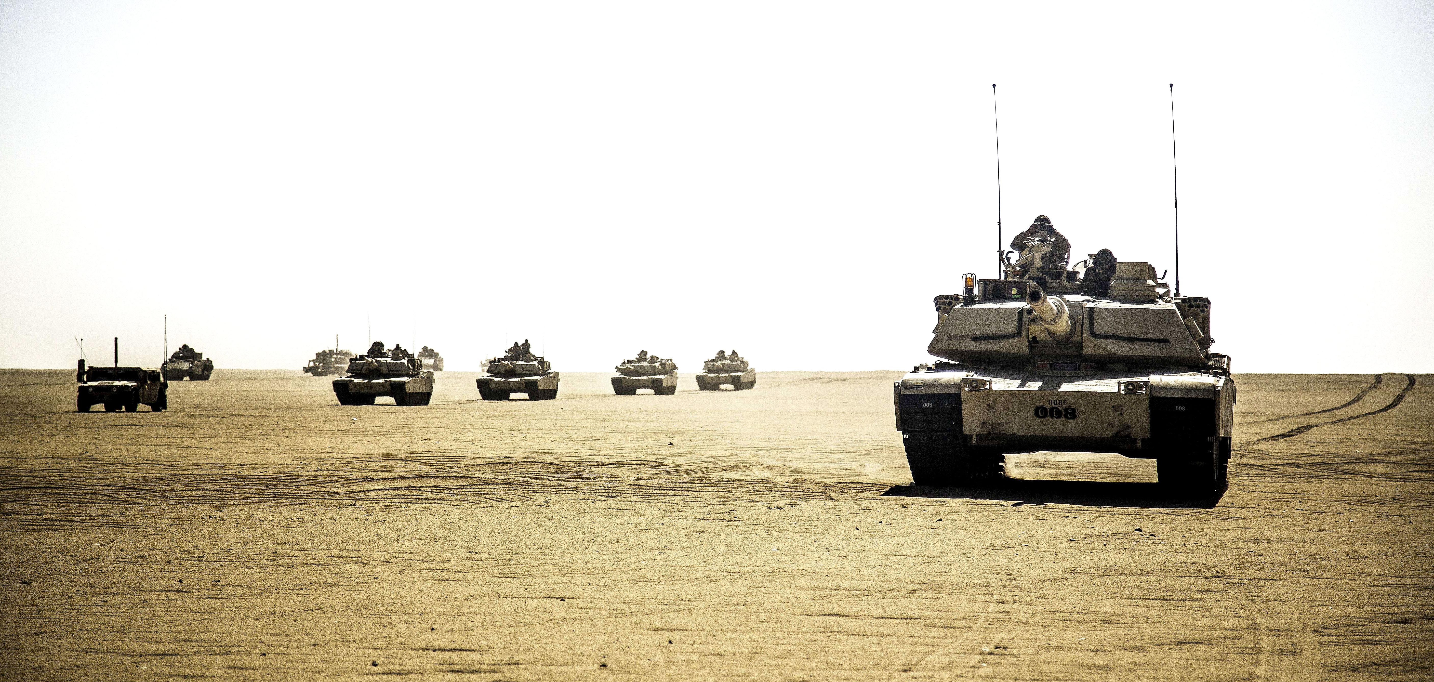 وزارتا الدفاع والخارجية الأمريكيتان توافقان علي صفقة تطوير 218 دبابة M1A2 Abrams شاملة عمليات الدعم والمعدات ذات الصلة  لدولة الكويت   03-07-14-Exercise51