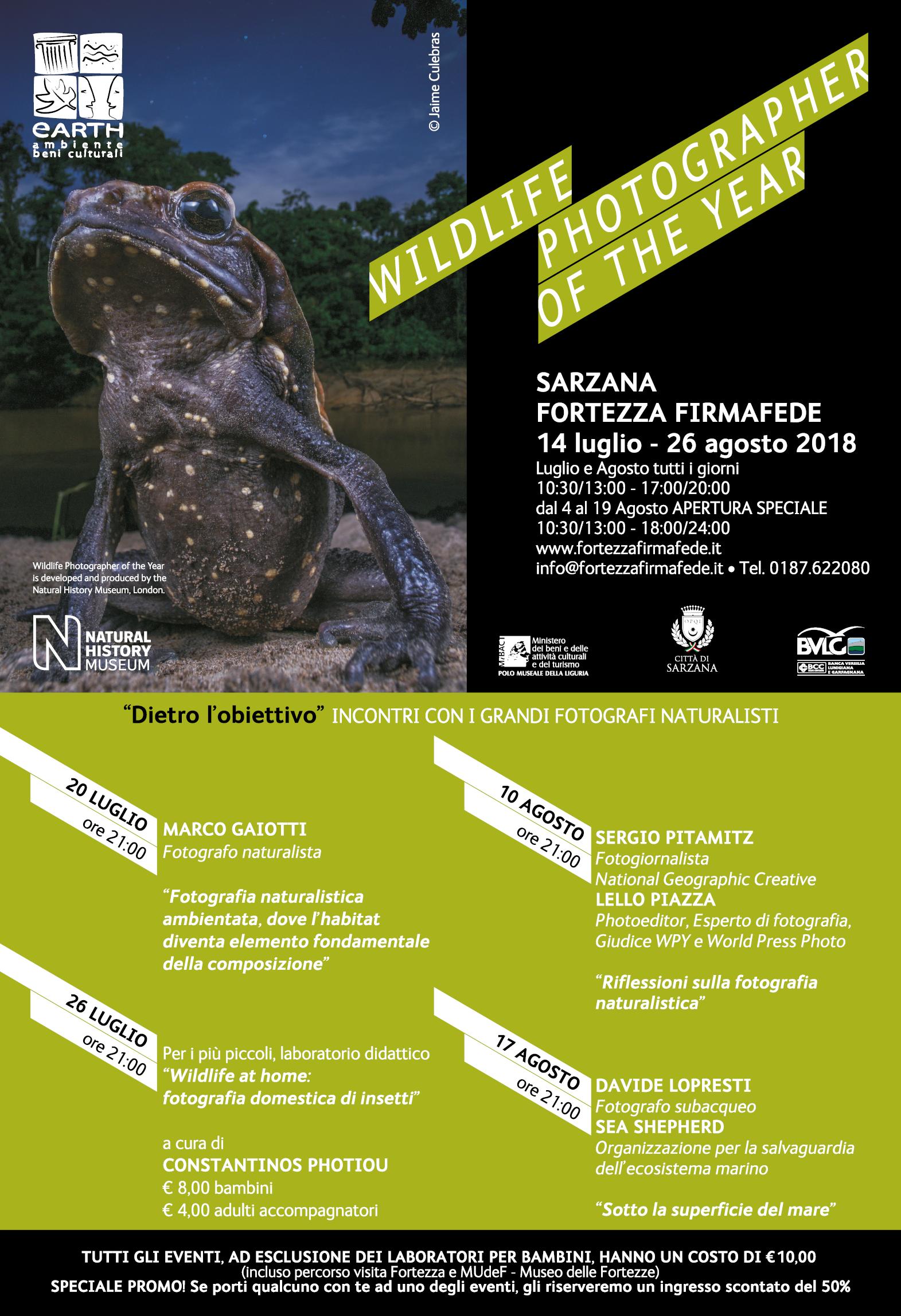 Mostra Wildlife Photographer of the Year | Fortezza Firmafede, Sarzana (SP) WPY_ProgrammaCompleto