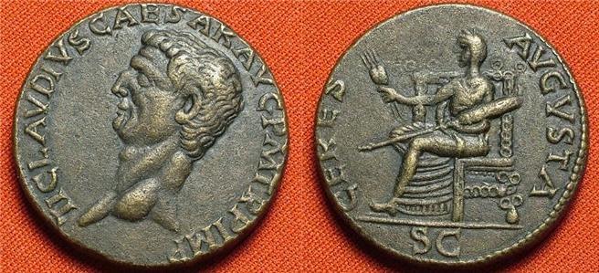 CLAUDIUS. 41-54 CERES AVGVSTA Indentification Vrai ou Faux ? Claudius_As_Ceres_repro