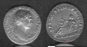Denier Trajan Via Traiana 3