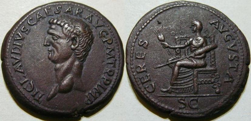 CLAUDIUS. 41-54 CERES AVGVSTA Indentification Vrai ou Faux ? Normal_Claudius