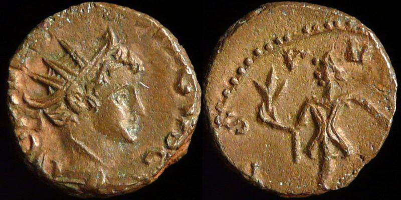Pièce n° 26 - Antoninien de Tetricus II Normal_0455-320np_noir